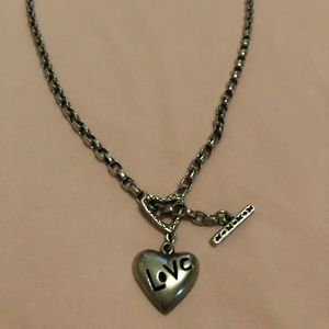 Sterling Silver toggle LOVE necklace